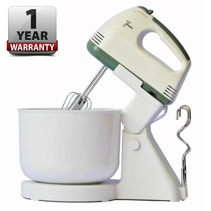 7 Speed Electric Hand Or Stand Mixer Egg Beater Dough Mix