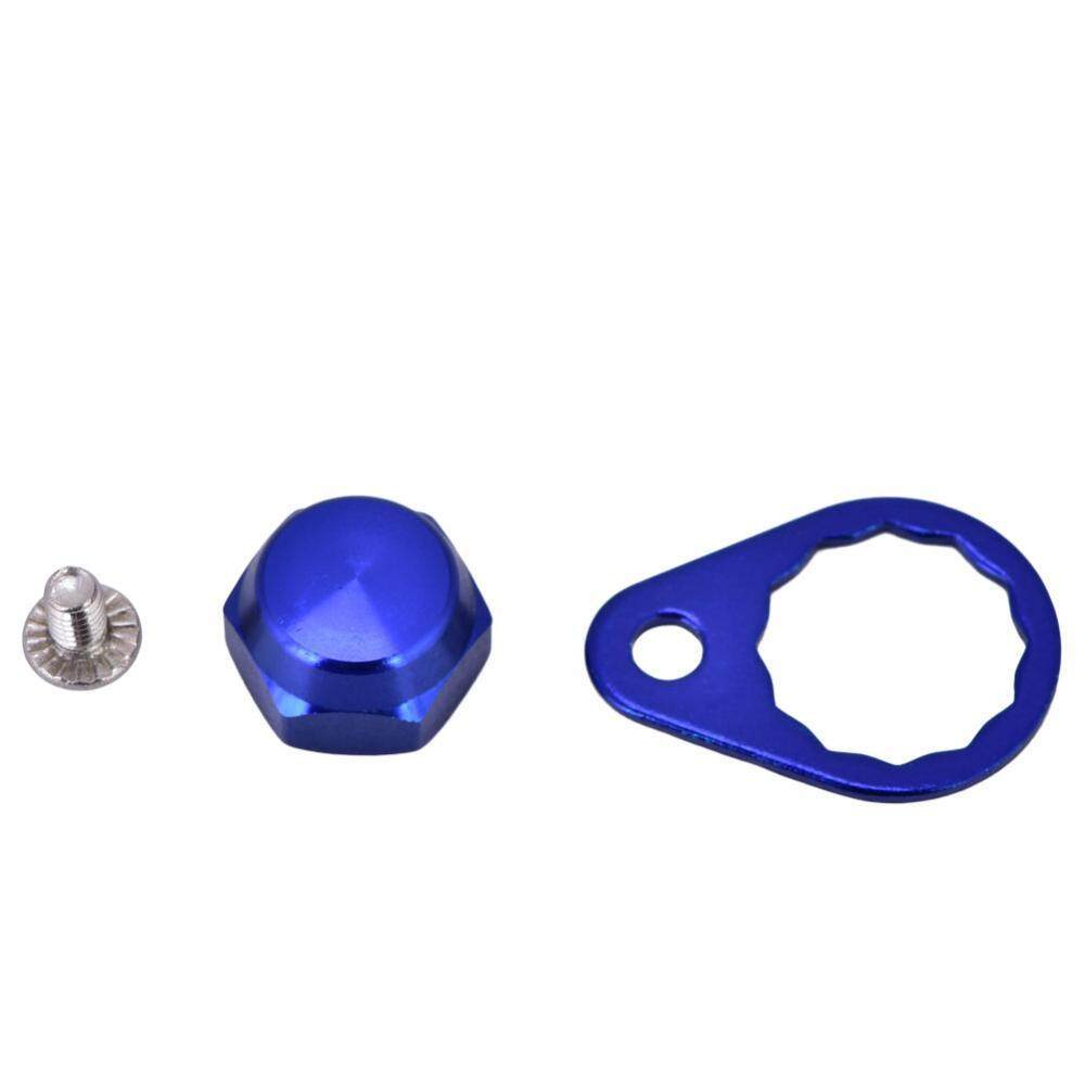 Fishing Reel Handle Locking Plate Screw Nut Cap DIY Accessory for Daiwa (Blue-Left Hand)