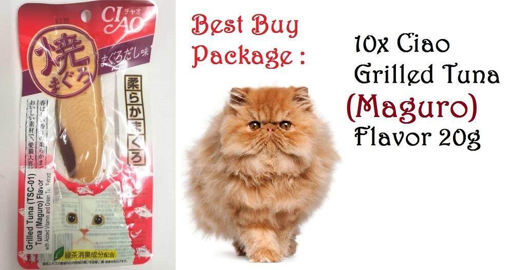 {Buy 10x} Ciao Grilled Tuna (Maguro) Flavor Cat Treat 20g