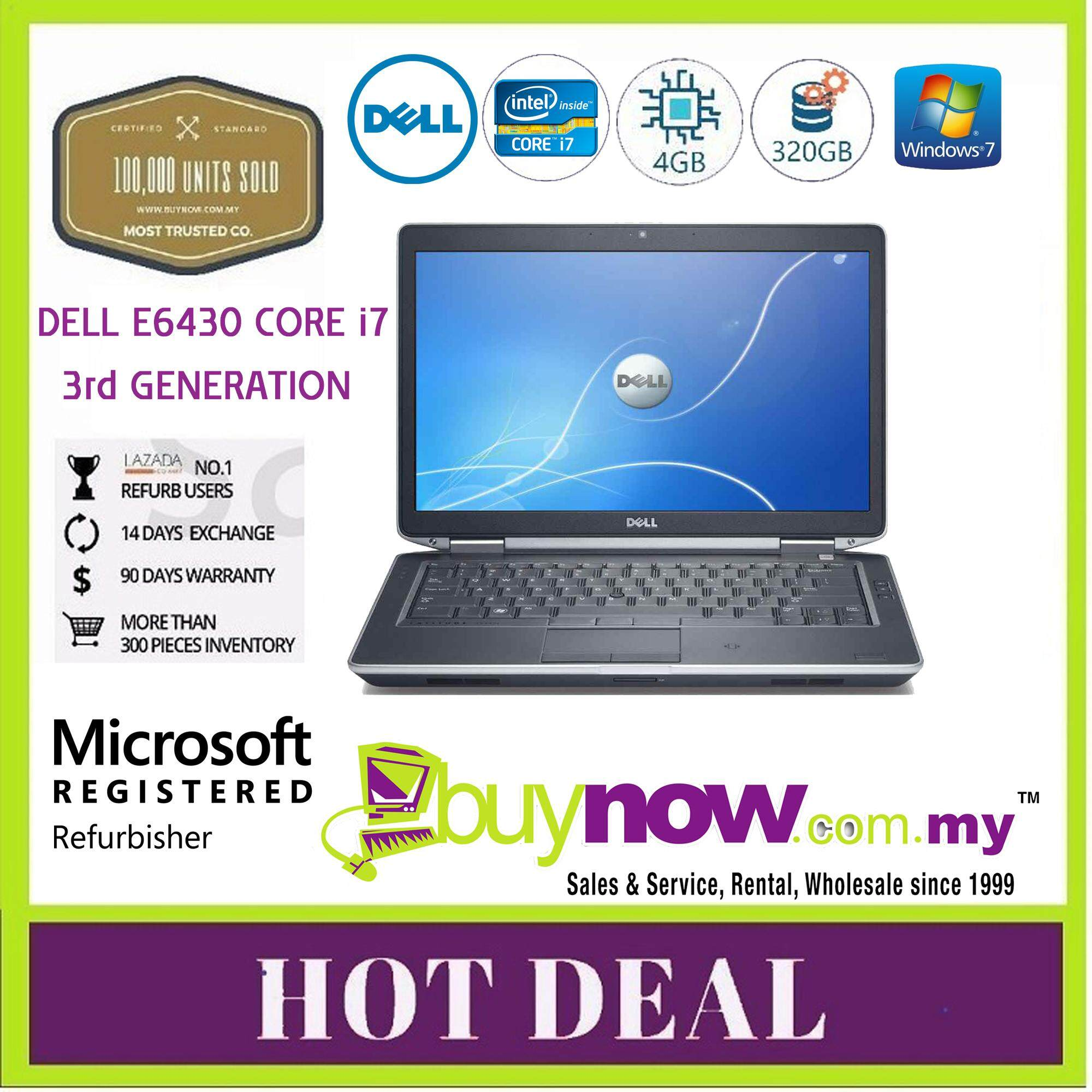 Refurbished Dell Latitude E6430 Laptop, Corei7,4GB,320GB WINDOWS 7 PRO Malaysia