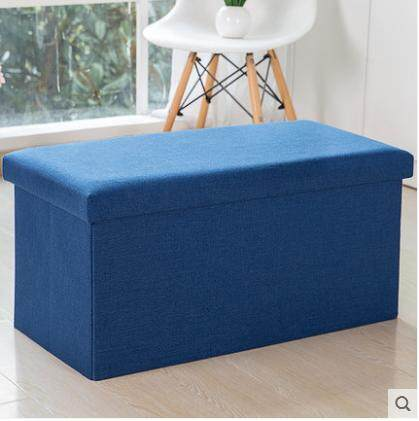 Fabric Can Be Large Multi-functional Storage Stool Bench