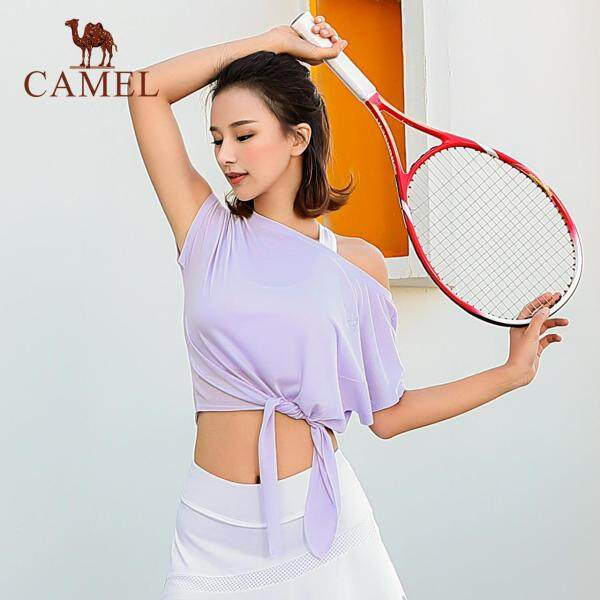 CAMEL women sports T-shirt Tops Yoga batwing sleeve Tee running fitness clothing short-sleeved loose sweet quick-drying shirt