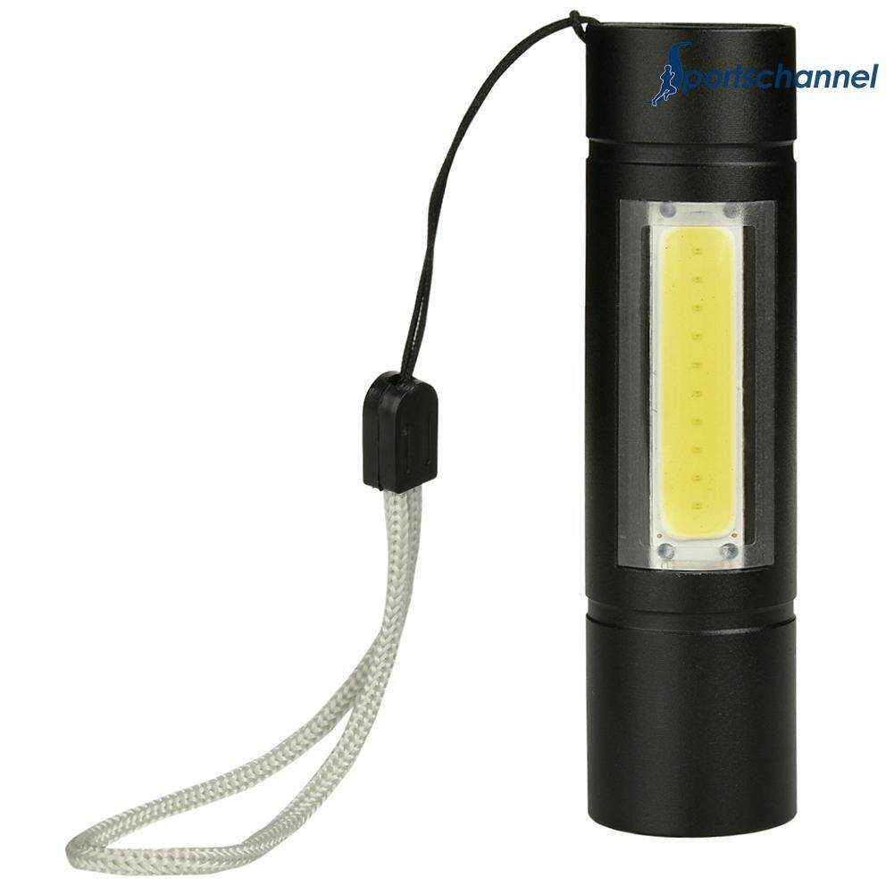 Portable USB Rechargeable XPE+COB LED Flashlight Torch Inspection Lamp - intl