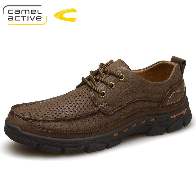Jerman Camel Active sepatu pria sepatu kasual Musim semi dan musim panas Kulit asli sepatu kasual luar ruangan berongga bernapas Baur Sepatu kulit sapi laki-laki