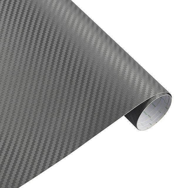 Lb 3D Vinyl Serat Karbon Mobil Twill Wrap Lembar Film Gulung Mobil Stiker Tempelan untuk Sepeda Motor Mobil Mobil Styling Aksesoris 30 Cm X 127 CM