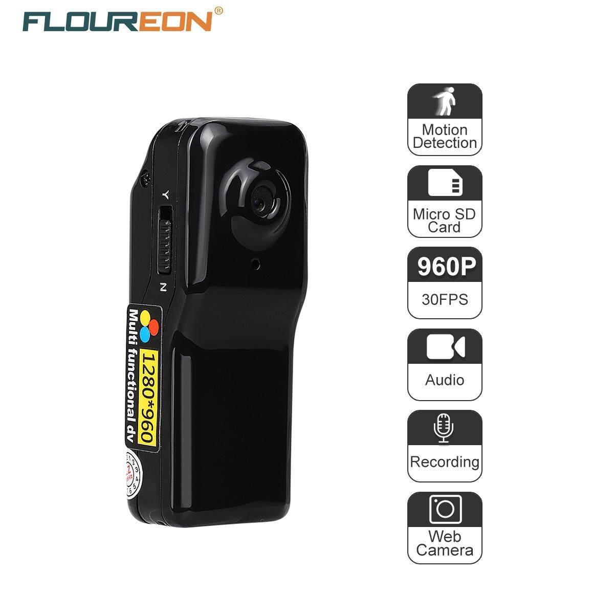 Máy ẢNH Mini DV FLOUREON 1.3 Mega Pixels HD DVR Thể Thao Video/Âm Thanh/Chụp Phát Hiện Chuyển Động Ghi Âm MÁY TÍNH Web camera Đen