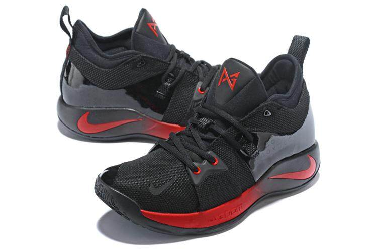 ab3c88f665b Nike Original Paul George 2 MEN Basketaball Shoe Black Red PG-13 Sneakers