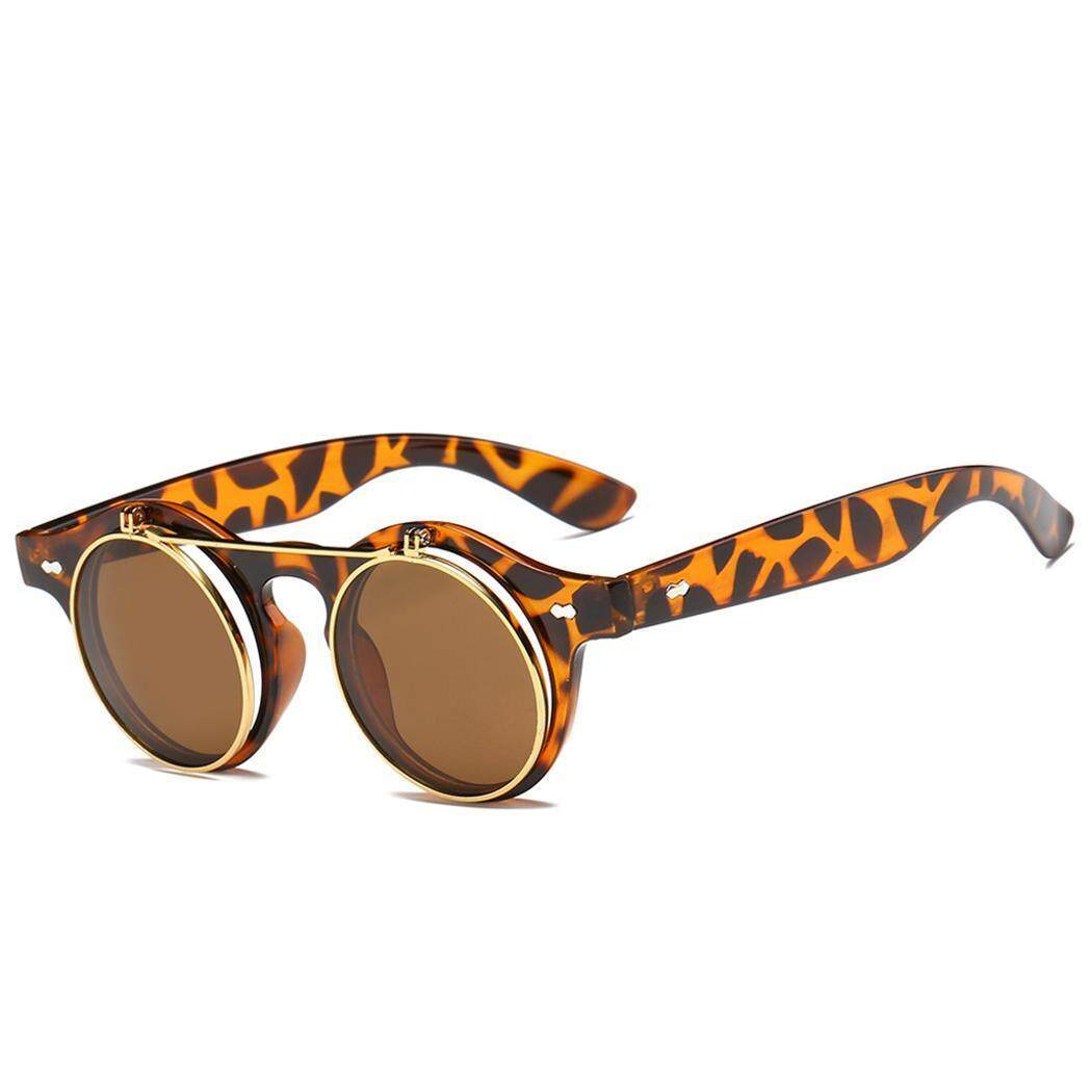 Terbaik Seller ASTAR Wanita Lipat Sampai Kacamata Hitam Sepanjang Lingkaran Retro Berjemur Kacamata-Internasional