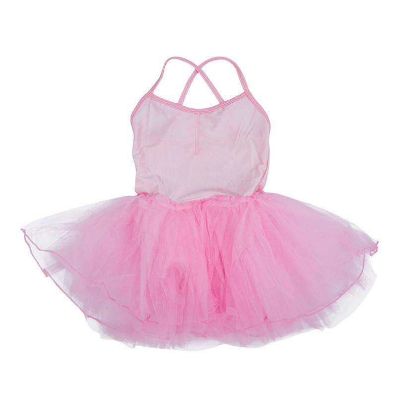 Girls Fairy Dress Ballet Tutu Leotard 5-6t - Light Pink By Lapurer.