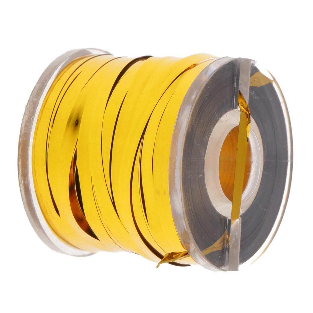 Detail Gambar MagiDeal Holographic Tinsel Line Tape Fly Tying Tinsel Flash Tape Gold Terbaru