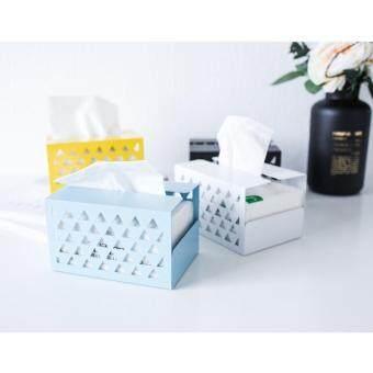 ล่าสุด BolehDeals Tissue Box Holder, Retangular Napkin Holder Paper Case Dispenser Blue S ราคาถูกที่สุด