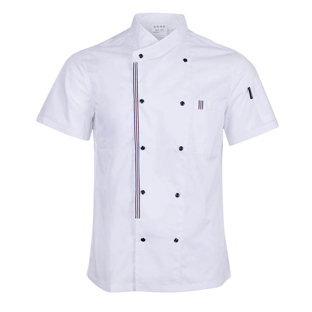 Magideal Women Men Chef Jackets Coat Short Sleeves Shirt Kitchen Uniforms Xl White By Magideal.