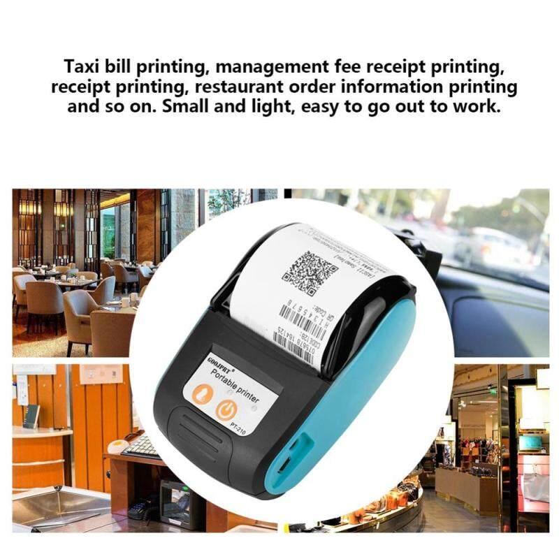 Justgogo 58mm Wireless Receipt Printer Bluetooth Thermal Bill Printer 110-240 V (Blue, UK)