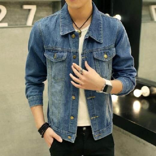 d9e5609622b  READY STOCK   PRE-ORDER  Men Plus Size XXXL Long Sleeve Jeans Denim