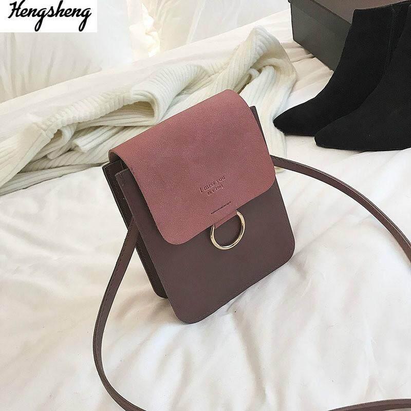 กระเป๋าถือ นักเรียน ผู้หญิง วัยรุ่น สระบุรี vintage casual small handbags Metal ring women evening clutch ladies party purse Leather crossbody shoulder messenger bags