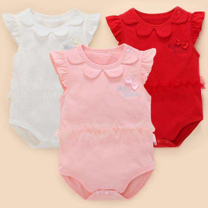 5ede646b9 Baby Girl Body Suits Newborn Infant Baby Girls Rompers Summer Kids Clothing