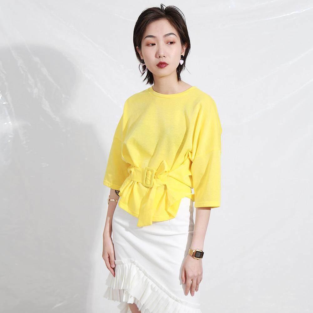 477f50b51161 Women s T Shirt Summer New Flash Silk Pure Color Short Sleeve T Shirt Female