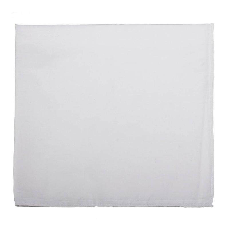 Beanies Summer Cotton Beanie headscarf scarf cloth Women Men Unisex 54x54 white