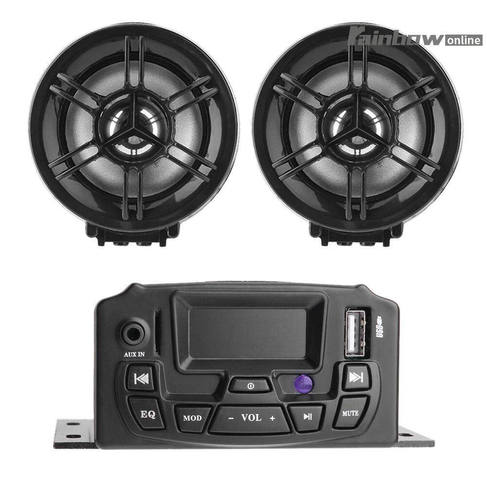 Motorcycle Speakers For Sale Audio Online Brands Outdoor Wiring Wireless Lcd Display 2 Speaker Stereo Sound System Mp3 Fm Radio Intl