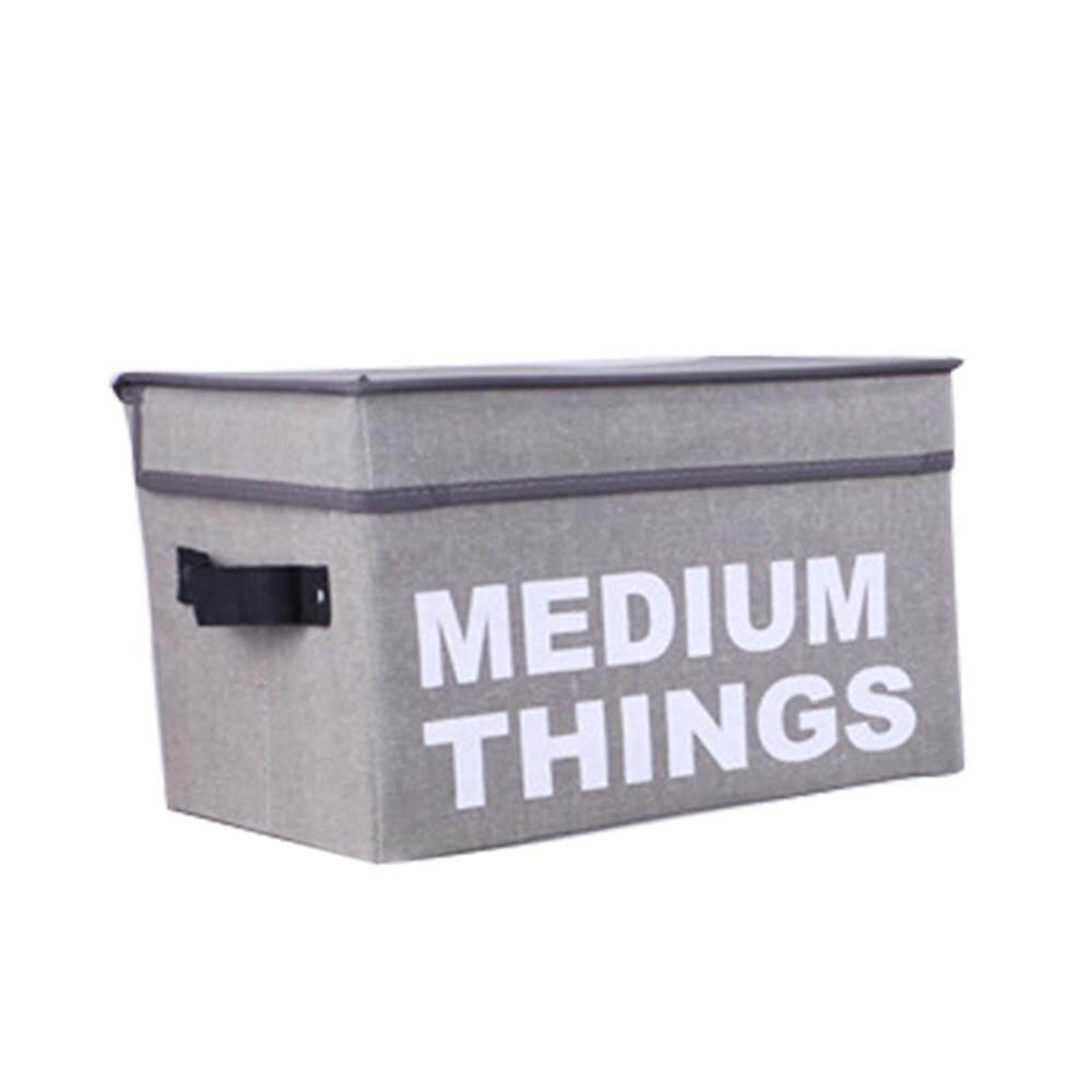 Auoker Tempat Penyimpanan, Kotak Penyimpanan Lipat dengan Tutup dan Menangani Keranjang Penyimpanan Kebutuhan Pengatur Wadah