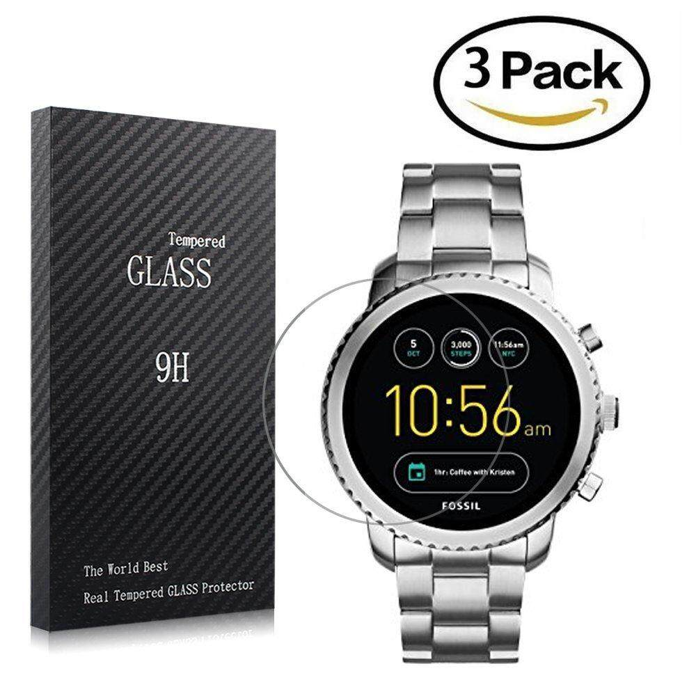 For Fossil Q Explorist Screen Protector, Full Coverage Tempered Glass Screen Protector for Gen 3