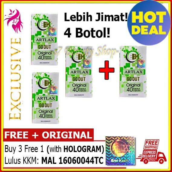 4 BOTOL - ARTLAX GO OUT (ORIGINAL) - PENAWAR GOUT - HOT SALE!