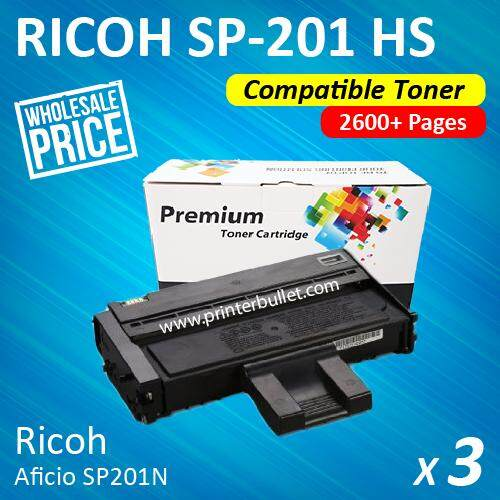 3 unit Ricoh SP200 / SP201 / SP204 / SP201n / SP201nw / SP203s / SP204sn / SP204sf / SP204sfn / SP204Sfnw / SP211 / SP213nw / SP211su / SP213snw / SP211sf / SP213sfnw Ricoh Aficio High Quality Compatible Toner Cartridge