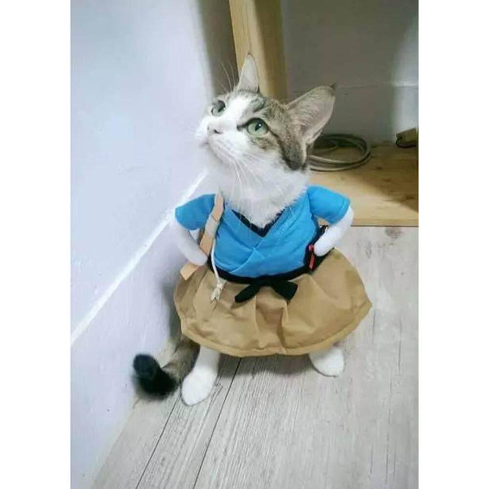 Empat Musim Penjualan Besar Kucing Anjing Lucu Seragam Kostum Pakaian Setelan Anak Anjing Berdandan Jas Pesta Pakaian Cosplay Gaya Baru