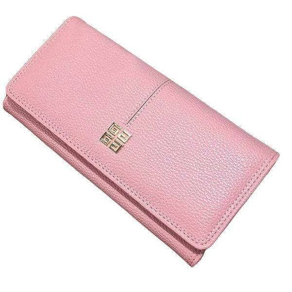 WLT-034 Norway Hubert 110 Woman Big Space Coin Card Wallet Purse [PINK]