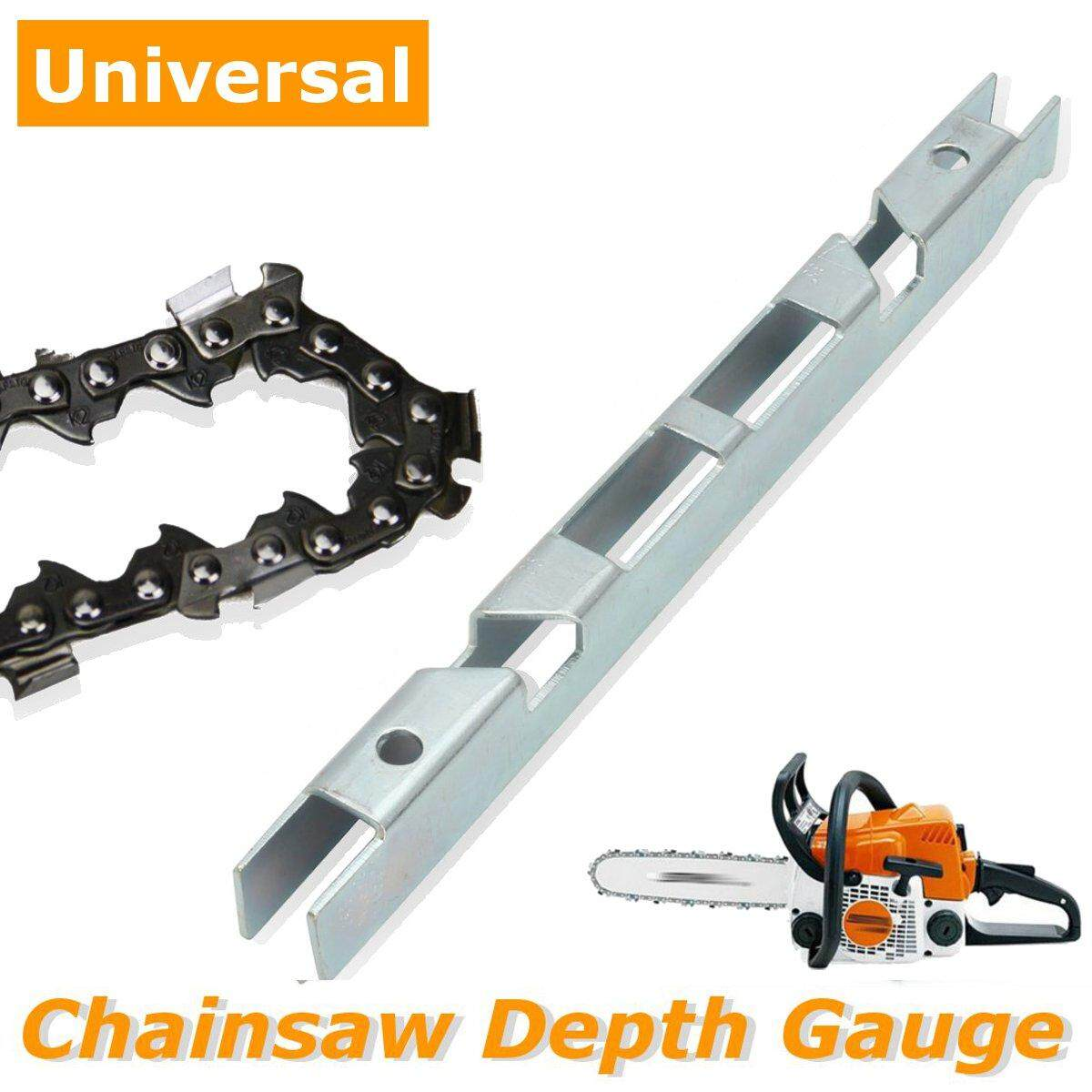 Universal Chainsaw Chain Depth Gauge File Guide Tool & Guide Bar Groove Cleaner