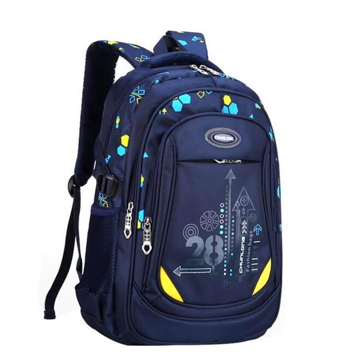 c2094d5d02 Kids Nylon Large Backpack Children School Bag for Middle Primary School  Student  Dark Blue