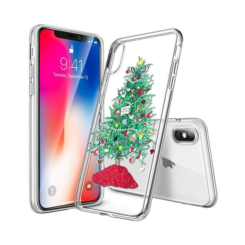 Perfect For iPhone X iPhone Xs Back Case Ultra Slim Fit Christmas Series Soft TPU Phone