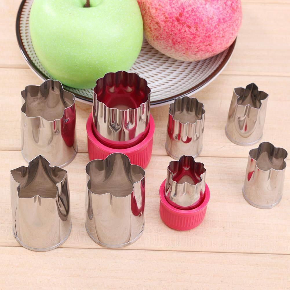 8 Pcs/set Bunga Bentuk Dumpling Cetakan Kue Roti Buah Kue Kering .