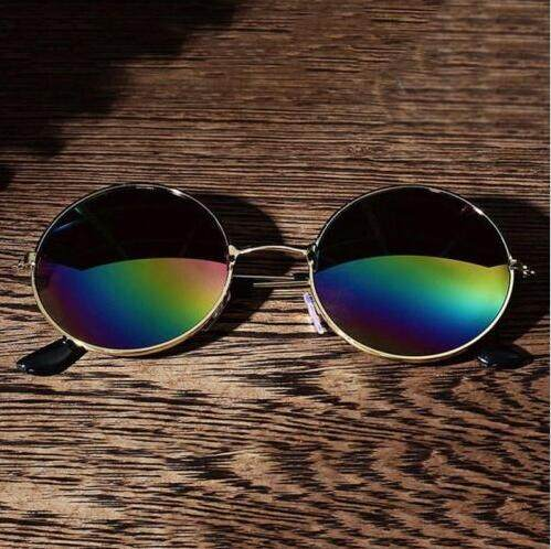 Women Vintage Round Mirror Lens Sunglasses Unisex Men Outdoor Eyewear Sun Glasses(multicolor) By Rytain.