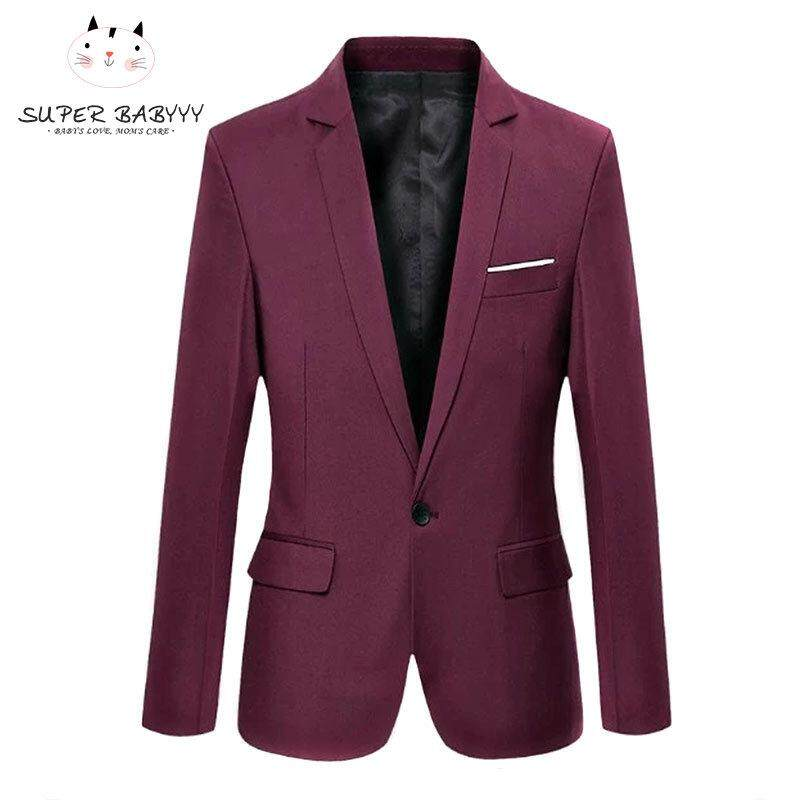 SBY Fashion Spring Autumn Men Blazer Long Sleeve Solid Color Slim Man  Casual Thin Suit Jacket Office Blazers Plus Size S-6XL
