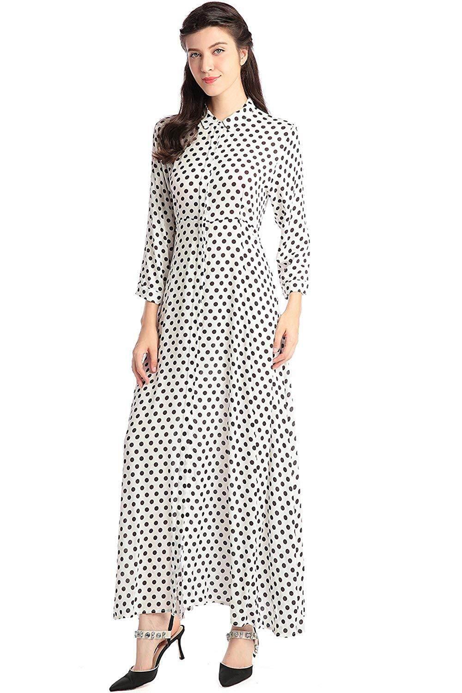 09ad0ed60a Women Floral Print Maxi Long Dress Long Sleeve Casual Shirt Dresses Muslim  Long Kaftan Abaya for