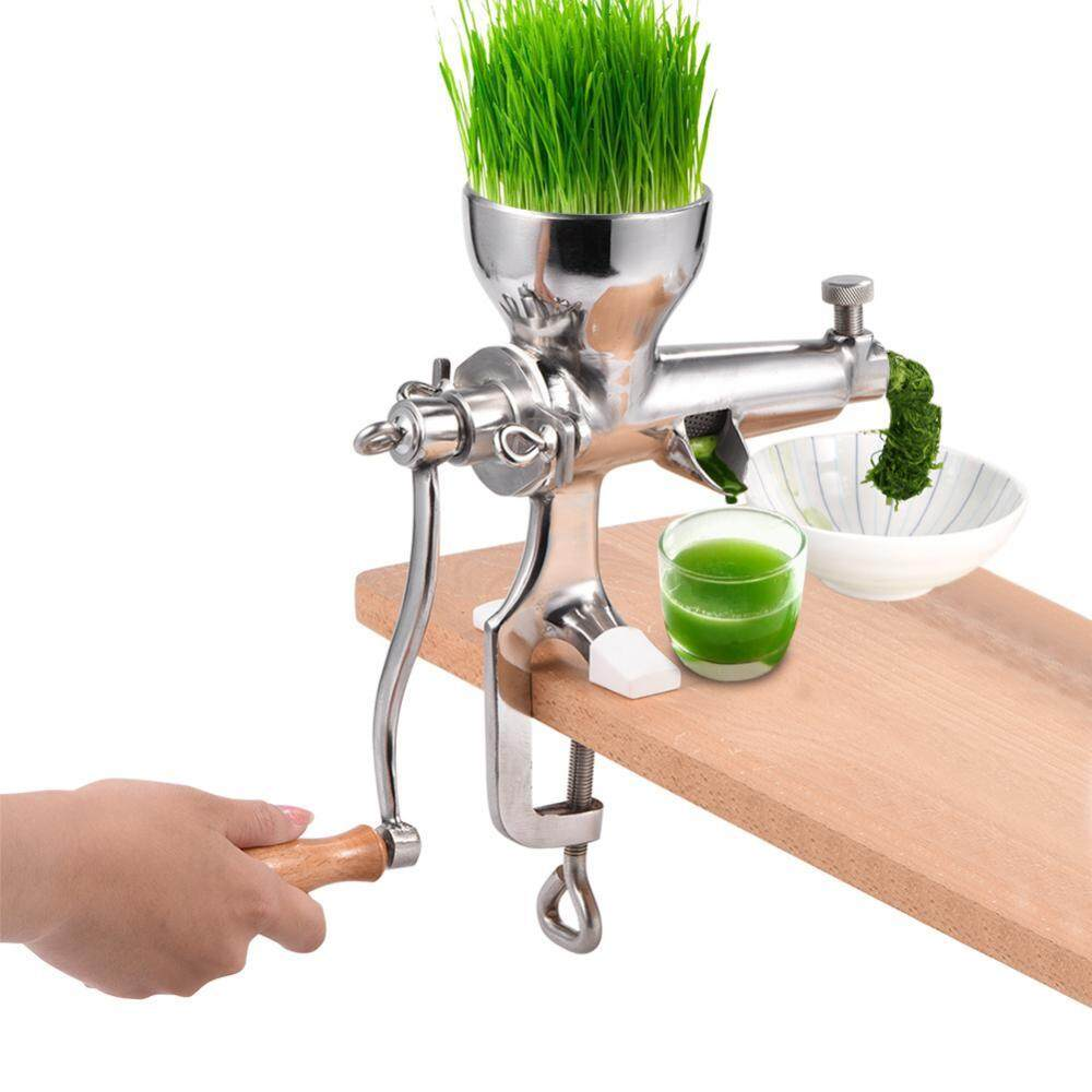 Stainless Steel Wheat Grass Wheatgrass Manual Hand Juicer Health Juice Extractor Tool - intl