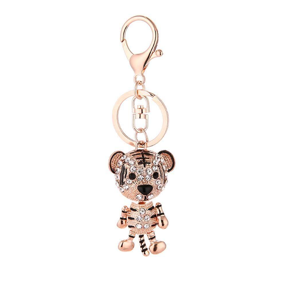 Women Cute Tiger Elegant Shining Rhinestones Key Rings for Girls Car Bag  Pendant Keychain - intl 61dbc6fc61