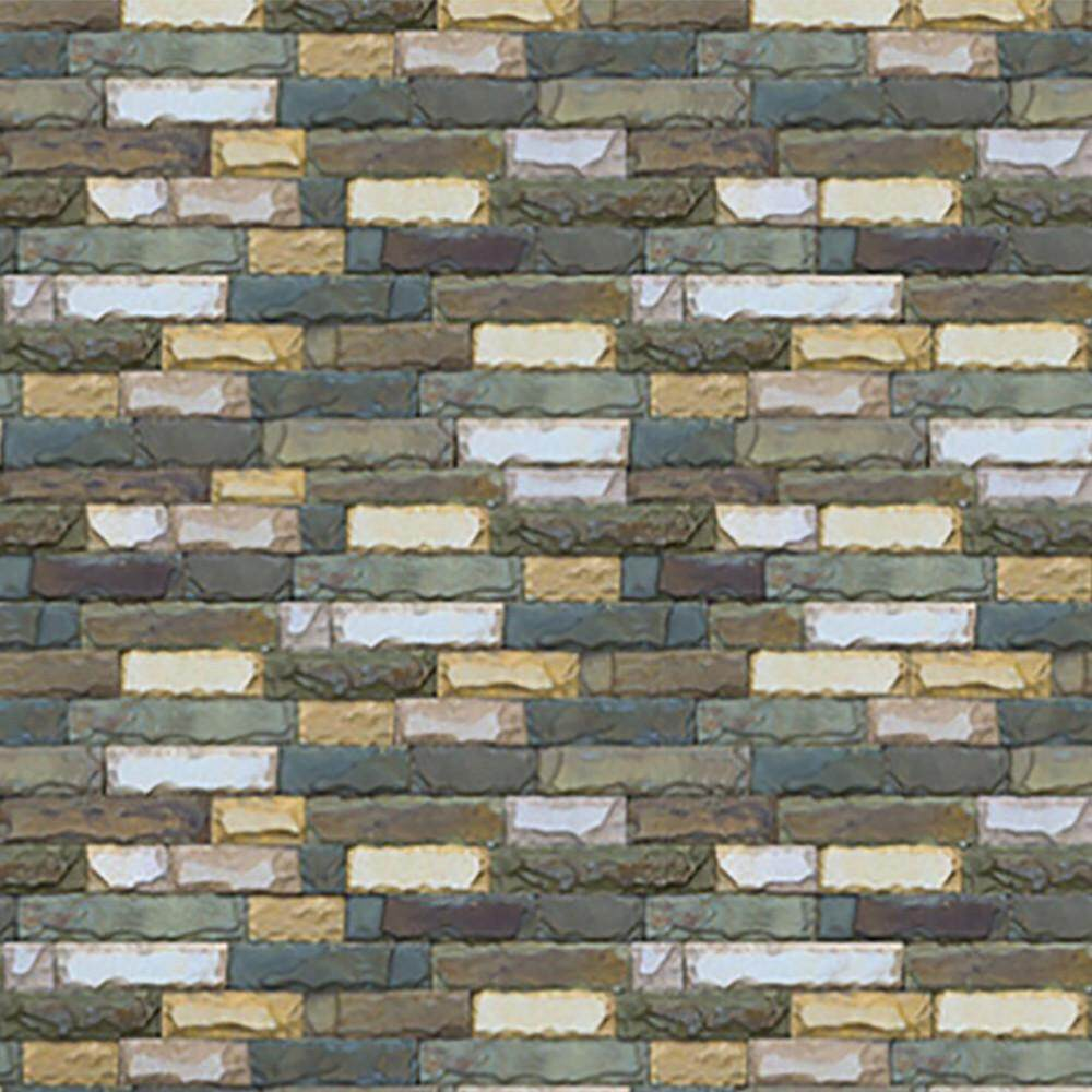 MyAnswer 3D Brick Stone Rustic Effect Self-malagkit Wall Sticker Home Decor Free shipping