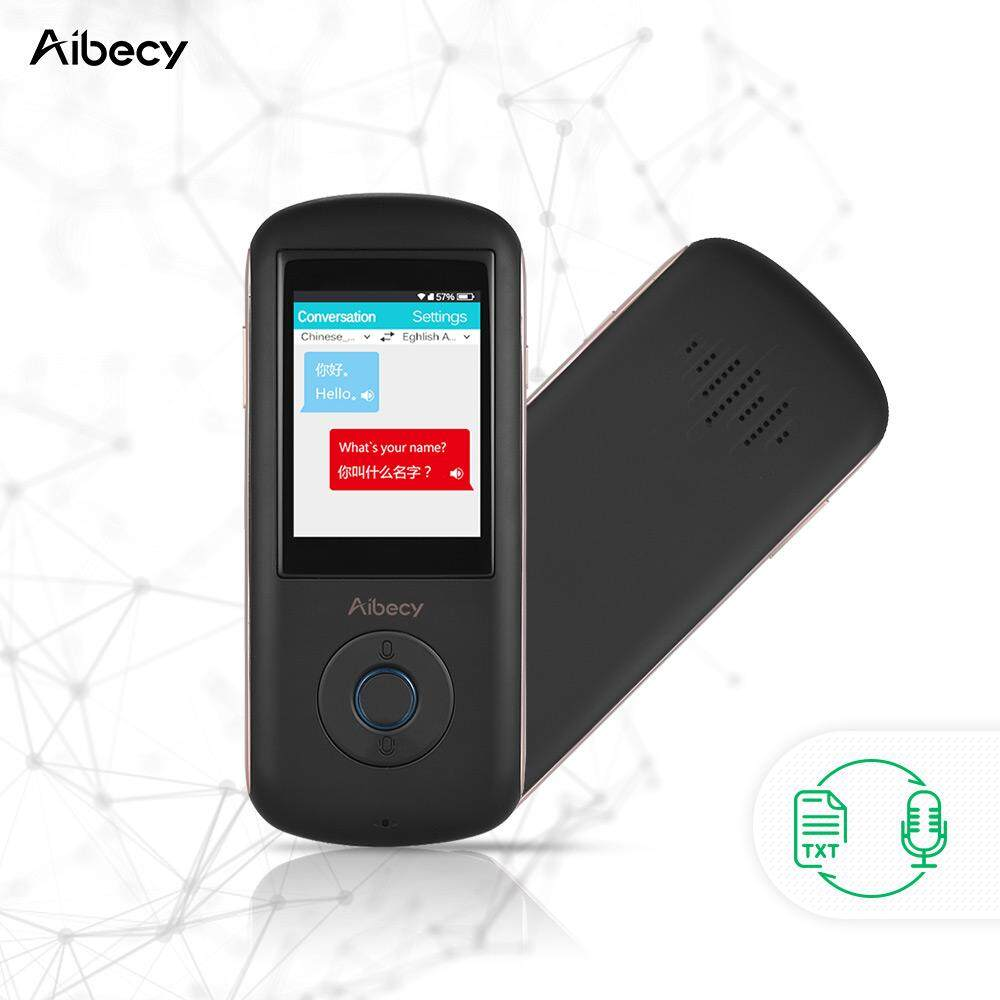 Hình ảnh Aibecy Real-time Multi Language Translator Speech Translation Device Intelligent Voice Interpreter for Business Travel Shopping Learning English Chinese French Spanish Japanese Arabic