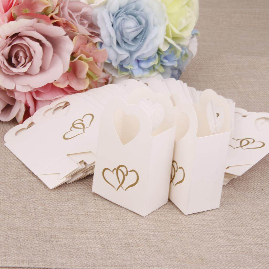 BolehDeals 50 Wedding Favour Gift Candy Boxes Bags Baby Shower Party Anniversary