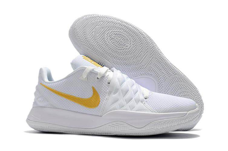 61a9385981ca Nike Original Kyrie Irving 4 Low EP Discounted MEN Basketaball Shoe White  Gold