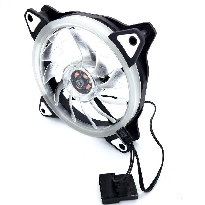 X6 25DB 2100RPM 12V 3-4PIN 12cm Cooling Fan Ring LED (G1)