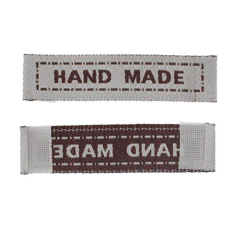 Mua Polyster Woven Labels Scrapbooking Craft Rectangle Coffee Hand Made 100Pcs - intl