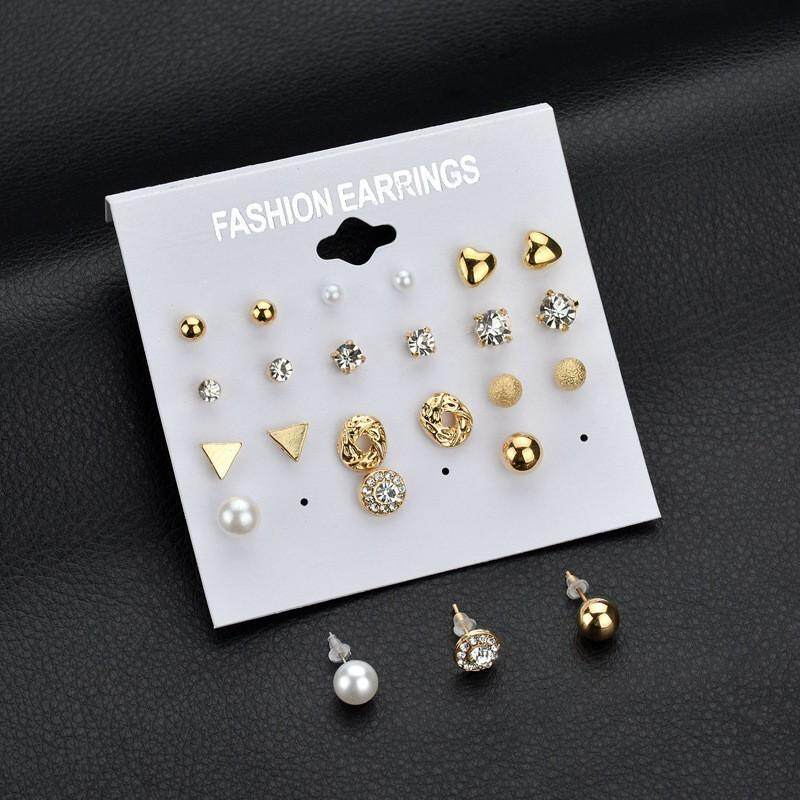 LRC Anting Fashion Flower Decorated Pure Color Design Simple Earrings. Source ... Fashion