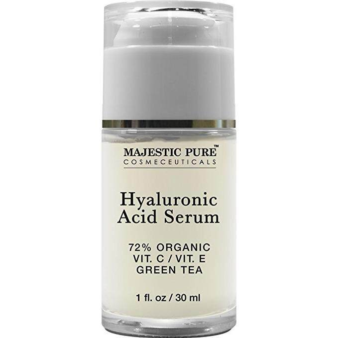 Majestic Pure Hyaluronic Acid Serum, Anti Aging Moisturizer Makes the Skin Look Plumped and Lifted, 1 fl Oz