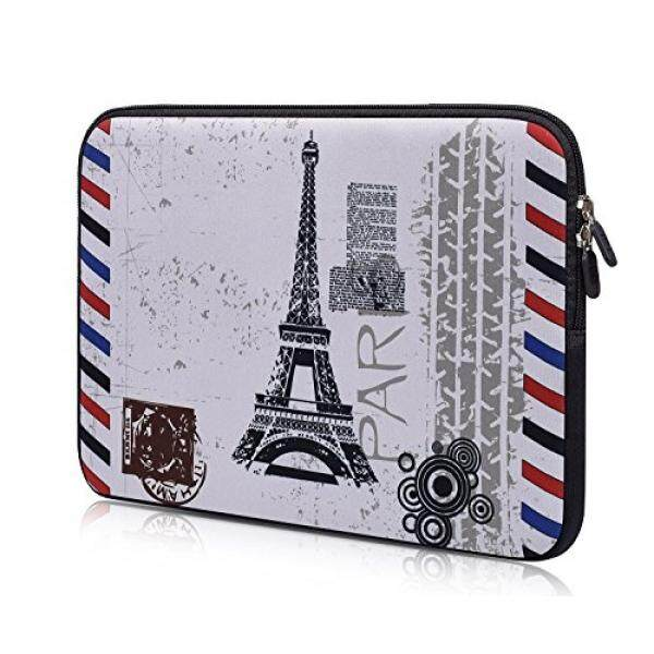 Laptop Sleeves iBenko Paris Pattern Neoprene Sleeve Pouch Case for MacBook 12/Macbook Air 11/HP Stream 11/ASUS Chromebook 11/Acer ChromeBook 11/Samsung Chromebook 2/Dell Chromebook 11 and More 11-12.2