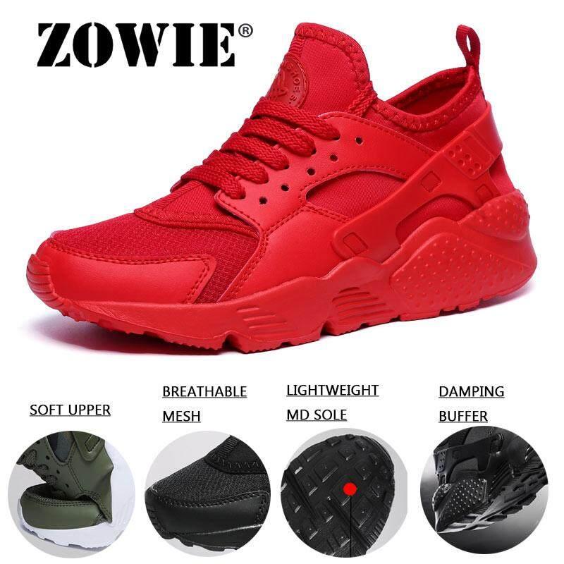 Zowie Pria dan Wanita Olahraga Luar Ruangan Sepatu Menyerap Keringat Pecinta Ringan Sneaker Lari Ukuran Plus