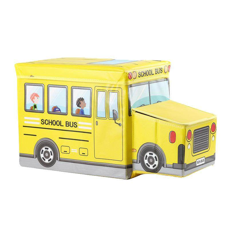 LITAO Childrens Storage Box Multi-Function Folding Childrens Storage Box Seat Pop-Up Toy Box