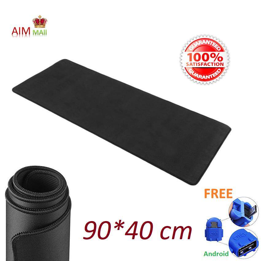 80*30, 90*40 cm Extra Large size Smooth Surface and Anti-Slip Gaming Mouse Pad (Black) Malaysia